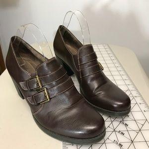 Naturalizer, Natural Soul Brown Chunky Heeled Boot